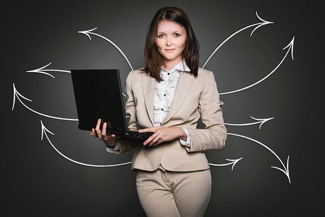 podnikatelka bruneta