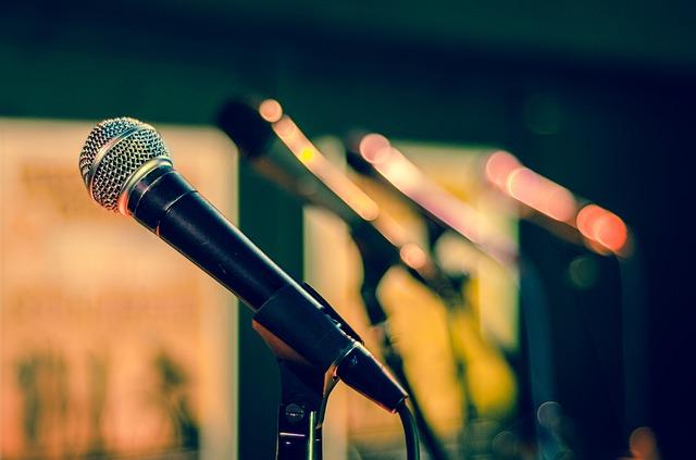 černý mikrofon