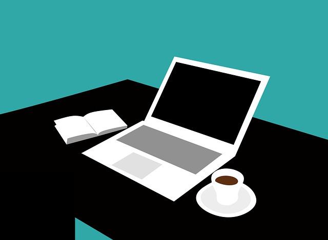 práce na notebooku